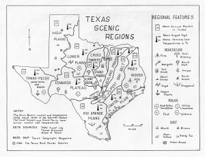Texas Scenic Regions Map