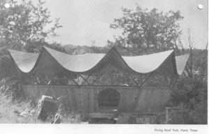 Flying Roof Yurt at Mo Ranch, 1975